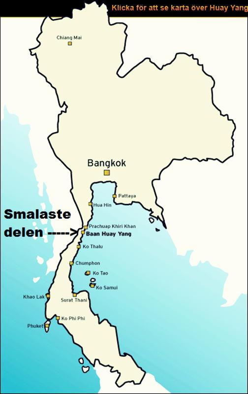 Karta Centrala Thailand.Huay Yang Bostader I Thailand